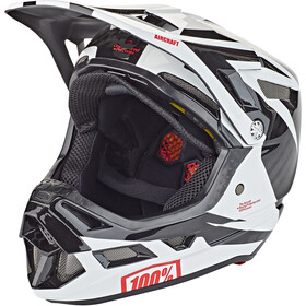 100% Aircraft DH Casque Mips inclus, rapidbomb/white